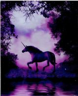 The Enchanted Unicorn Art Tile